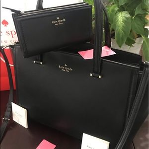 Kate spade Patterson drive bag and wallet leather